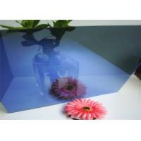 Cheap Flat Shape Dark Blue Reflective Glass , Reflective Tempered GlassSample Available for sale