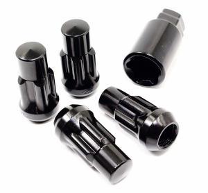 Cheap Black Car Wheel Nuts Acorn Bulge Tuner Socket Style 1.75 Inch for sale