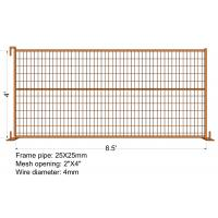 Cheap Movable Canada Temporary Fence Panel Welded Portable Fence 6FT X 9.5FT for sale