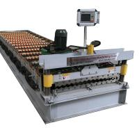 Cheap Corrugated Galvanized Metal Roof Panel Tile Making Machinery 4kw Power for sale