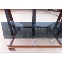 Cheap Coated Reflective Float Glass Flat Shape Black Reflective Glass For Furniture / Wall for sale