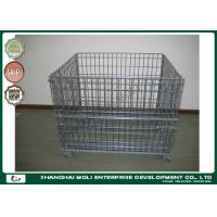 China Highbright wire container storage cages pallet ,  metal mesh storage containers on sale