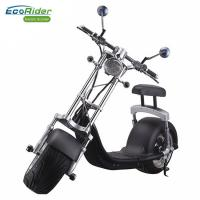 Buy cheap EcoRider 1200w 60v 12ah Chinese Lithium battery Balance Electric Scooter Citycoco Harley Scooter With Turning Lights from wholesalers