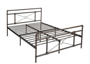 Cheap Modern light industrial steel pipe bed frame for sale