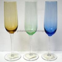 Buy cheap Colorful Crackle Champagne Glass Flutes, Drinkware, Tableware, Dinnerware, from wholesalers
