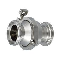 Cheap Stainless Steel 304 Sanitary Clamp End Non-Return Male Threaded Check Valve for sale