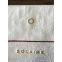 Cheap Dobby White Towel for Bathroom Hotel and Spa Cotton Bath Towels for sale