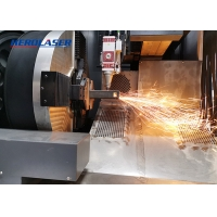Cheap 20000W MAX Fiber Laser Tube Cutting Machine With Rotary Axis for sale