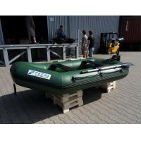 Cheap Heavy Duty Army Green Marine Inflatable Fishing Dinghy / Boats With 2 Chamber for sale
