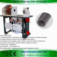 China Automatic English System Wave Peak Cut-Open Corrugated Pipe Cutting Feeding Rack Integrated Machine on sale
