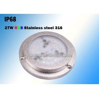 Cheap 27W IP68 SS316 Housing Underwater LED Boat Light High Luminous Efficiency for sale