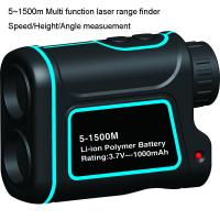 Cheap 1500m Multi function Golf Rangefinder with multi function of measuring the range, speed, height, angle for sale