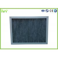 Cheap High Carbon Content Pleated Air Filters , Chemical Air Filter For Air Conditioner for sale