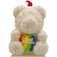 Cheap Long Lasting Preserved 40cm Size Roses Bear with Gift box That Lasting 3 Years  Valantines day gift for sale
