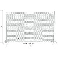 Cheap 6'X12' Outdoor American Used chain link temporary construction fence for safety with feet for sale