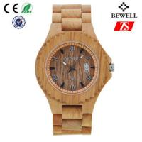 Cheap Old Annatto Wooden Wrist Watch With Japan Quartz Movement , ROHS FSC Standard for sale