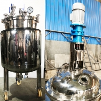 Cheap Stainless Steel Mixing Tank Dissolving Ethanol Pilot Reactor Lab Chemical Reaction Kettle Crystallization Reactor Chille for sale