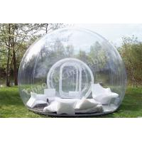 Cheap 0.8mm PVC Clear Inflatable Bubble Tent for outdoor for sale