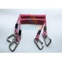 Cheap High Strength Strong Coil Tool Lanyard Transparent Red PU Material Cover for sale