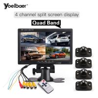 """Cheap High Definition 7"""" Quad Monitor For Car Side Blind Spot Parking Reversing Aid System for sale"""