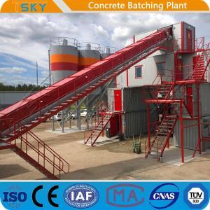 Cheap HZS180 2x55KW 180m3/h Mobile Concrete Batching Plant for sale