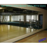 Cheap 6mm Vinyl Backing Processed Mirror Glass For Fitness Club / Dance Studios for sale