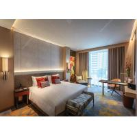 Cheap Modern Hotel Furniture Apartment Bedroom Sets Solid Wood + Plywood + MDF Covered for sale
