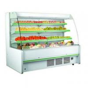 Supermarket open display cooler (compressor inside)