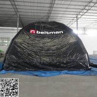 Cheap Black Dome Inflatable Event Tent 0.6 + 0.9mm Waterproof Inflatable Bubble Tent for sale