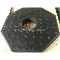 Cheap Outside use black pole rubber pedestal / octagon crumb rubber base support for sale