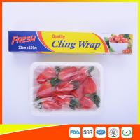 Fresh Keeping Food Grade Cling Film , Stretch Wrapping Plastic Roll