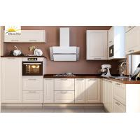 Cheap Jane White Wood Kitchen Cabinets Marble Surface Aluminum Alloy Edge Banding for sale