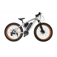 Cheap 48v Electric Mountain Bike , Front Disc Brake Electric Powered Bicycle Brushless Motor for sale