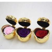 Cheap Amazon Wholesale Gold Plated Color Metal Ring Box Stabilized Roses in Box for sale