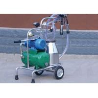 Cheap Dry Type Vacuum Pump Mobile Milking Machine With Stainless Steel Teat Cup for sale