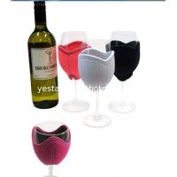 Buy cheap Decorative 3mm neoprene wine glass cooler with embroidery monogram logo from wholesalers
