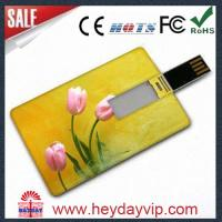 China Credit card shape usb flash drive 1GB on sale