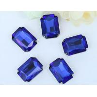Buy cheap Rectangle crystal sew on setting 4 hole sew on setting rhinestone from wholesalers
