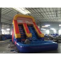 Cheap Large  Commercial Inflatable Water Slides , Racing Games Outdoor Inflatable Equipment for sale