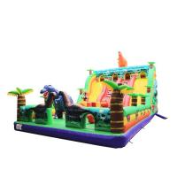 Cheap Dinosaur Commercial Inflatable Slide High Strength Fashion And Warm Design for sale