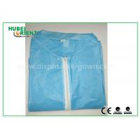 Cheap Colored Zip medical lab coats for Workers , lightweight lab protective clothing for sale