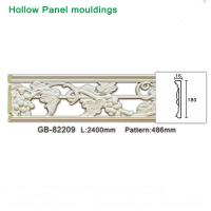 Cheap Grape design polyurethane foam White hollow moulding for light through for sale