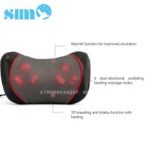 Cheap One Button Control Electric Massage Pillow Homedics 3d Shiatsu Massage Pillow With Heat for sale