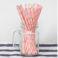 Cheap Wedding Birthday Colored Paper Straws Food Grade Kraft Paper Material for sale