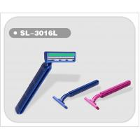 Cheap Plastic Handle Twin Blade Disposable Razor 5 pcs/bag Hot Sell   (SL-3016L) for sale