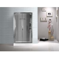 Quality Tempered Glass Rectangular Shower Cabins , Sliding Door Shower Cubicles wholesale