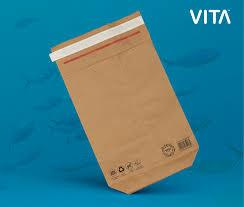 Cheap 12*18cm Shakeproof Recycled Paper Mailing Bags for sale