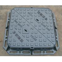China ductile iron manhole cover ,double triangle cover sewage cover ,heavy cover 600x600 EN124D400 on sale