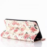 """Cheap Flower Pattern Book Flip Leather Case With Credit Card Slot For Iphone 6 Plus(5.5"""") for sale"""