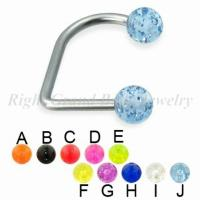 Cheap Glitter Ball Bead Labret Monroe Jewelry UV Acrylic For Woman for sale